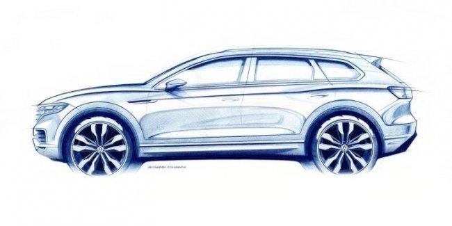 650x-1 Обнародованы официальное изображение и дата презентации Volkswagen Touareg 2019