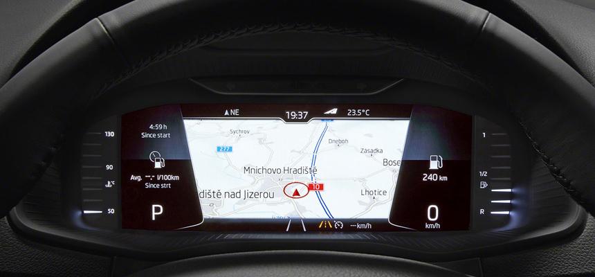 skoda-karoq-cluster2 Skoda Octavia дополнит опции инновационными технологиями!