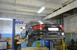 Audi-A7-zamena-zadnih-amortizatorov-3-1-300x197 Ремонт Ауди (Audi) A7 в Москве