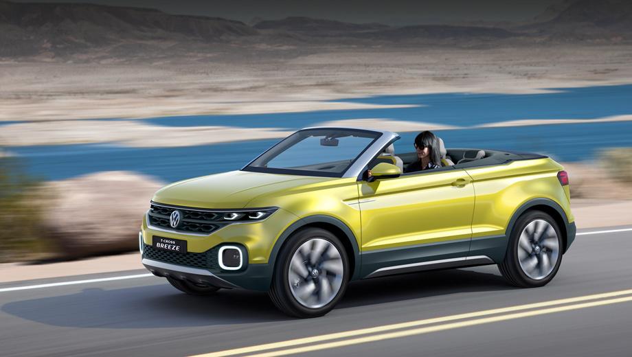 T-Cross-Breeze-4 Кабриолет модели Volkswagen T-Roc - новая экзотика в сегменте